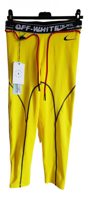 Off-White Yellow Spandex Trousers