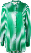 Ports 1961 long striped shirt - women - Silk/Cotton/Polyester - 42