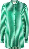 Ports 1961 long striped shirt - women - Silk/Cotton/Polyester - 46