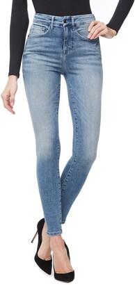 Good American Good Waist Ripped High Waist Skinny Jeans