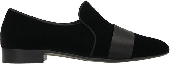 Giuseppe Zanotti Loafers In Black Velvet
