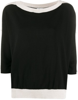 Liu Jo Contrast Ribbed Knit Jumper