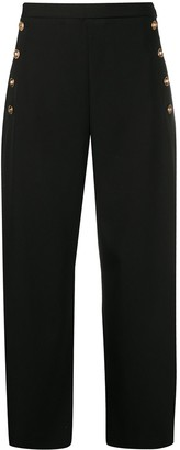 Versace Cropped Wide-Leg Trousers