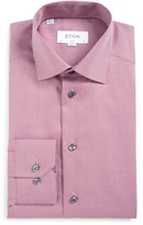 Eton Men's Slim Fit Houndstooth Dress Shirt