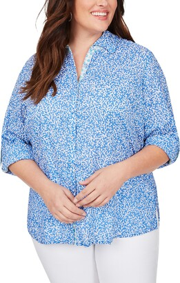 Foxcroft Zoey Coral Reef Button Up Shirt
