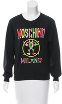 Moschino 2017 Couture Graphic Print Long Sleeve Sweatshirt