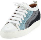 Laurence Dacade Kool Patchwork Denim Low-Top Sneakers, Multicolor