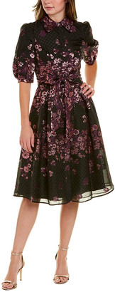 Teri Jon By Rickie Freeman Brocade A-Line Dress