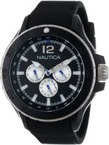 Nautica Men's N18673G NST Aluminum Multifunction Classic Stainless Steel Watch