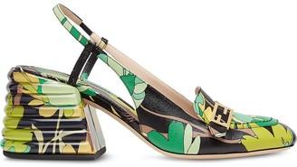 Fendi Promenade floral-print slingback loafers