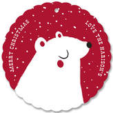 Minted North Pole Bear Holiday Ornament Cards