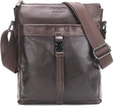 "Contacts Genuine Leather Men 11"" Messenger Crossbody Shoulder Bag Travel Handbag"