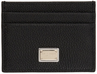 Dolce & Gabbana Black Sicily Card Holder