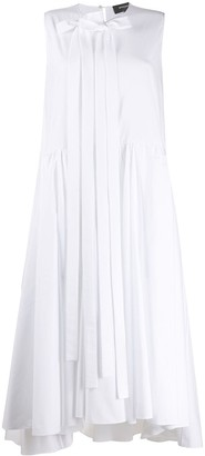 Rochas Bow-Embellished Midi Dress