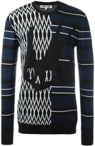 McQ by Alexander McQueen swallow skull intarsia sweater