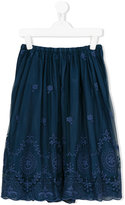 Caffe' D'orzo - Fedra embroidered skirt - kids - Cotton/Nylon - 14 yrs