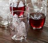 Pottery Barn Tahoe Etched Tumbler, Set of 4