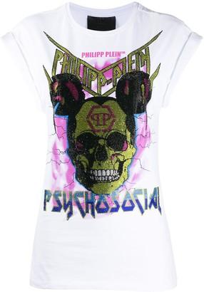 Philipp Plein crystal skull print T-shirt