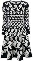 Alexander McQueen bird printed skater dress