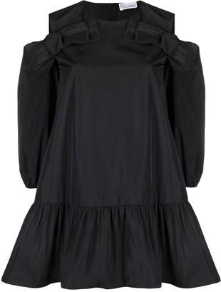 RED Valentino Cold-Shoulder Shift Dress