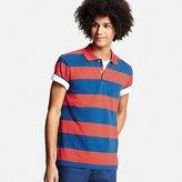 Uniqlo Men's Dry Pique Wide Stripe Polo Shirt