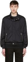 Versus Black Nylon Hooded Jacket