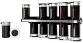 Zevro Zero Gravity Wall-Mount 12 Canister Magnetic Spice Rack Plastic and Steel - Black