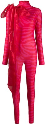 Atu Body Couture Oversize Bow Detailed Jumpsuit
