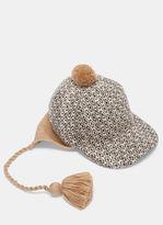 Gucci Men's Peruviano Tapestry Ear Flap Tasselled Cap In Beige