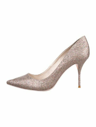 Sophia Webster Glitter Pointed-Toe Pumps Gold