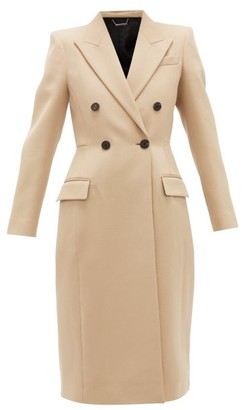 Givenchy Double-breasted Wool-tricotine Coat - Womens - Beige