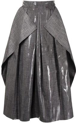 Maticevski Fondness Pleated Crepe Skirt
