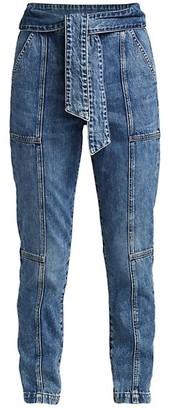 JONATHAN SIMKHAI STANDARD Henley Tie-Waist Straight Jeans