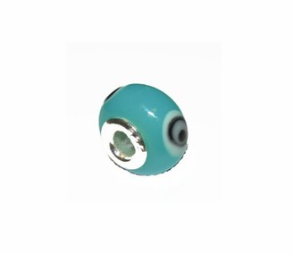 "Jo for Girls Sterling Silver Light Blue""Eye"" Murano Glass Bead"