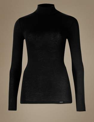 M&S CollectionMarks and Spencer Heatgen Plus Thermal Turtle Neck Top