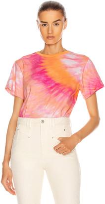 retrofete Tie Dye T-Shirt in Orange & Pink | FWRD