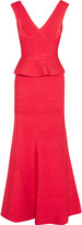Herve Leger Bandage peplum gown
