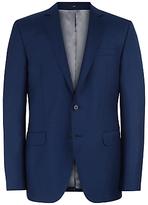 Jaeger Basketweave Wool Slim Suit Jacket, French Navy
