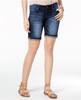 Indigo Rein Juniors' Released-Hem Denim Bermuda Shorts