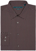 Perry Ellis Big and Tall Non-Iron Micro Geo Shirt
