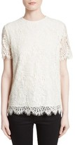 Victoria Beckham Women's Floral Lace Tee