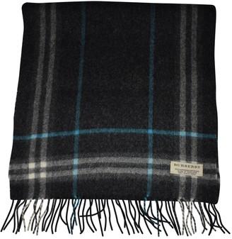 Burberry Anthracite Cashmere Scarves & pocket squares
