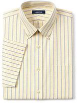 Lands' End Men's Tall Supima No Iron Oxford-Bayshore Blue Stripe
