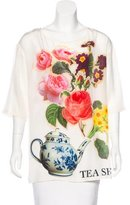 Moschino Cheap & Chic Moschino Cheap and Chic Silk 'Tea Shirt' Top