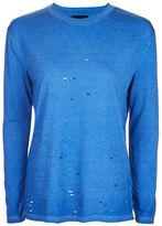 Topshop Acid long sleeve nibbled t-shirt