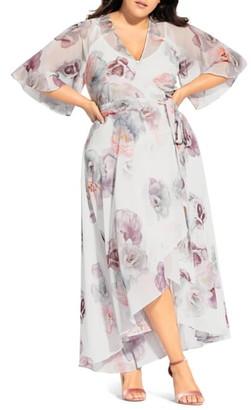 City Chic Rose Bella Maxi Wrap Dress