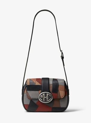 Michael Kors Monogramme Patchwork Leather Shoulder Bag