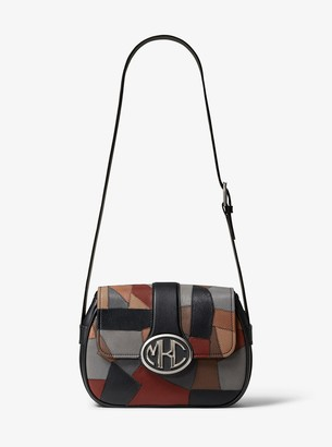 Michael Kors Monogramme Patchwork Leather Shoulder Bag