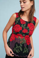 Anna Sui Rose Embroidered Top
