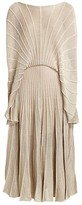 Stella McCartney Shine Stripes Lurex Cape Blouson Midi Dress